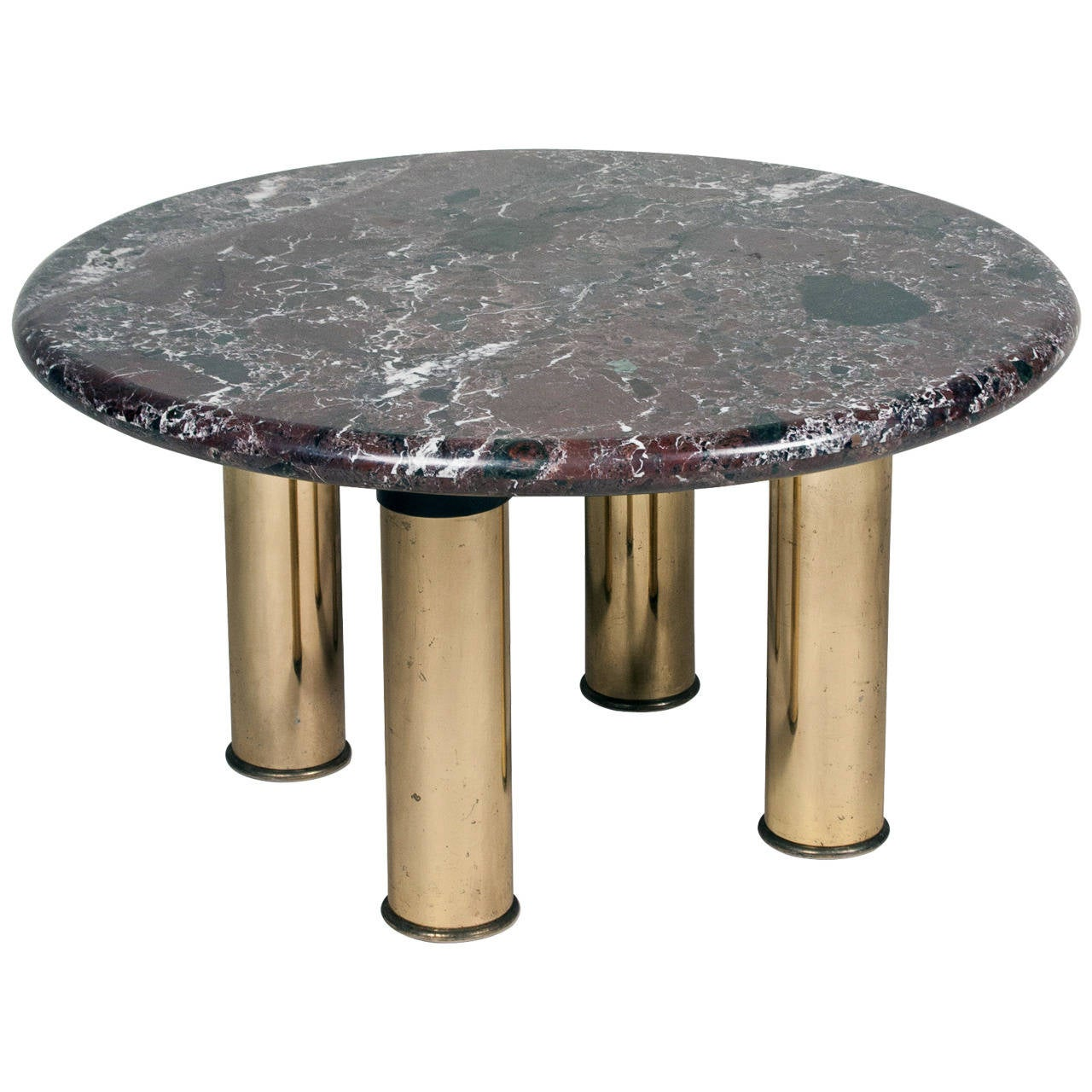 Marble Top Circular End Table At 1stdibs