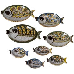 So Cute Eight Piece Ceramic Fish Set