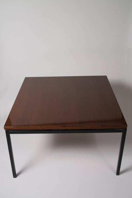 Palissandre Square Coffee Table by Alain Richard at 1stdibs -> Table Tele Palissandre