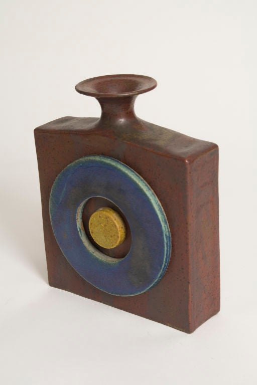 Pop Art Bottle Form Stoneware Vase by William Wyman image 4