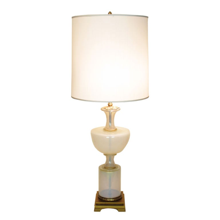 Marbro Murano Opalescent Table Lamp