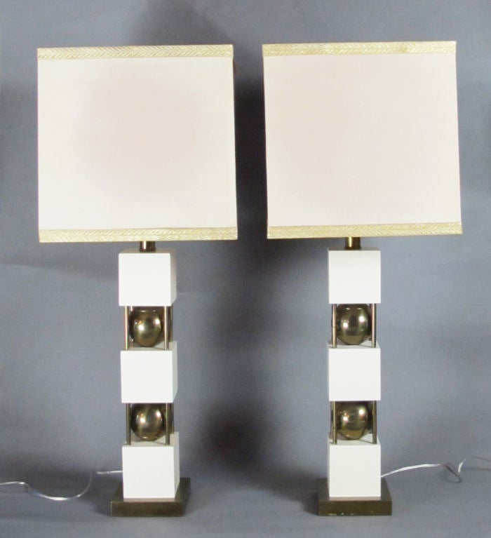 Monumental Pair of Table Lamps by Paul Hanson 2