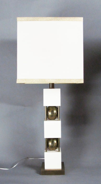 Monumental Pair of Table Lamps by Paul Hanson 4