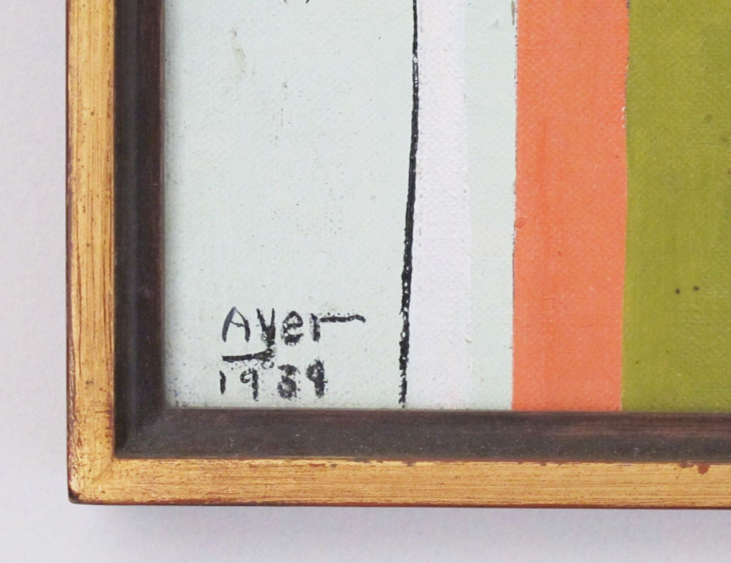 A 1939 Modernist Oil on Board by Richard Ayer 3