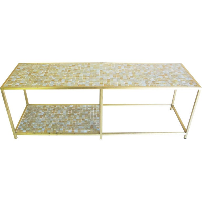 Glass Mosaic Tile Cocktail Table At 1stdibs