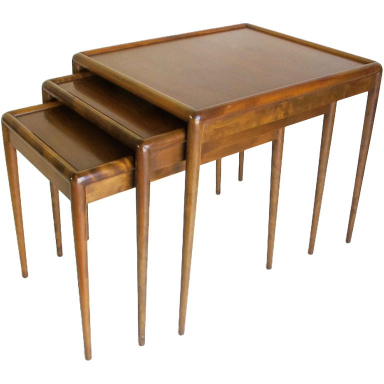 Set of Three Nesting Tables Designed by T.H. Robsjohn-Gibbings