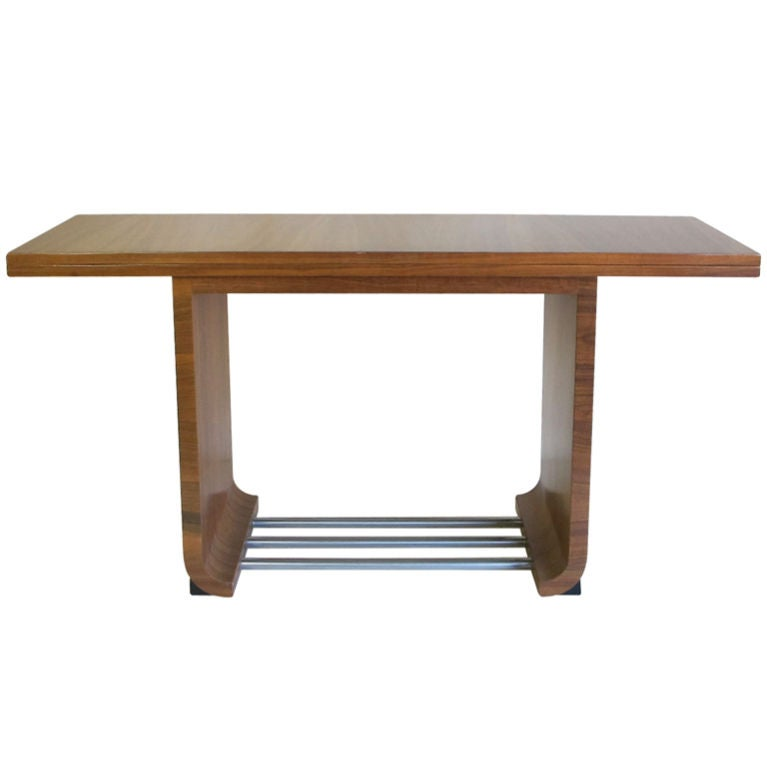 Flip Top Dining Table Console Designed By Gilbert Rohde At 1stdibs