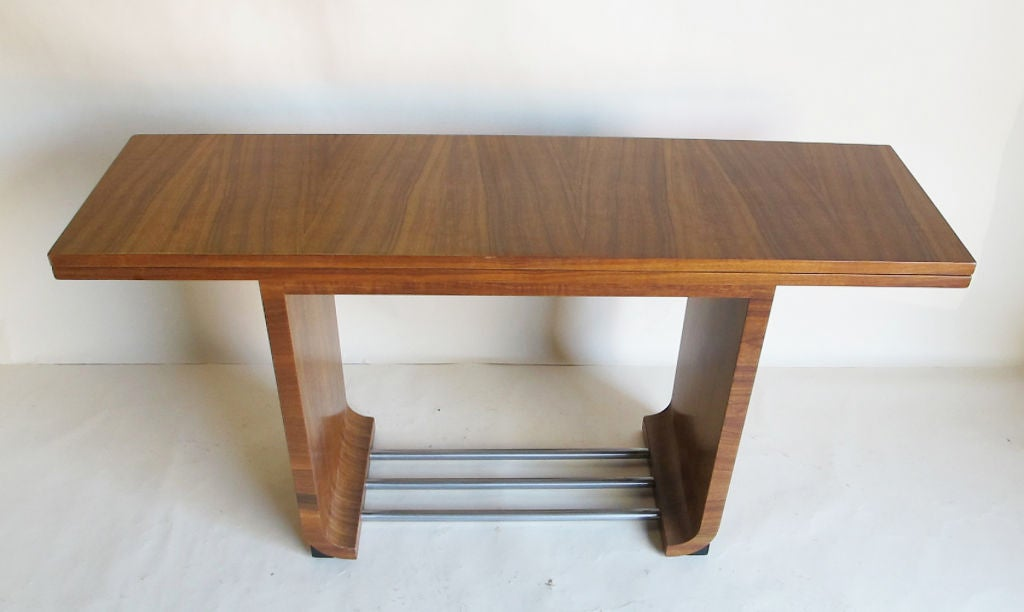 flip top dining table console designed by gilbert rohde at 1stdibs. Black Bedroom Furniture Sets. Home Design Ideas
