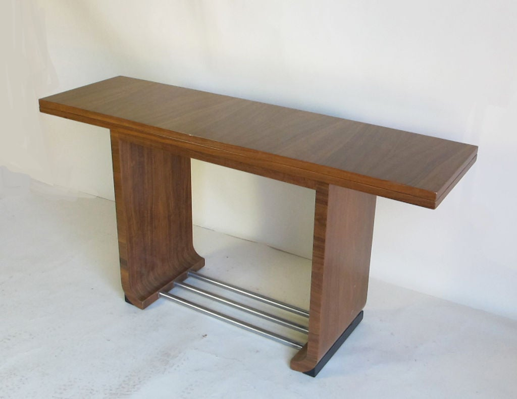 flip top dining table console designed by gilbert rohde at. Black Bedroom Furniture Sets. Home Design Ideas