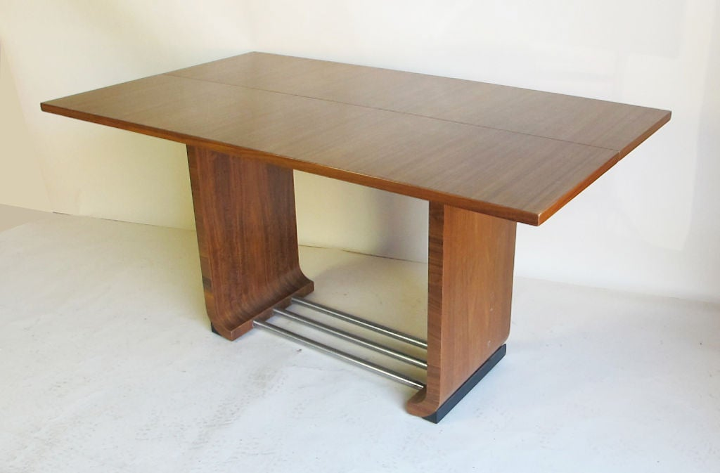 Flip Top Dining Table Console Designed By Gilbert Rohde For Sale At