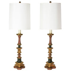 A Pair of Decorative Spanish Revival Lamps