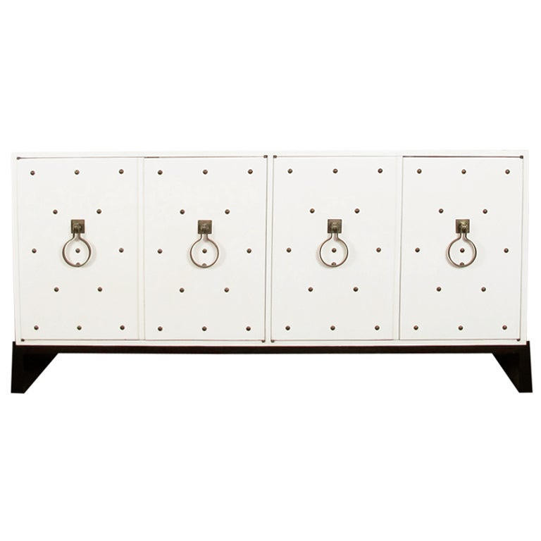 Studded Sideboard by Tommi Parzinger For Sale