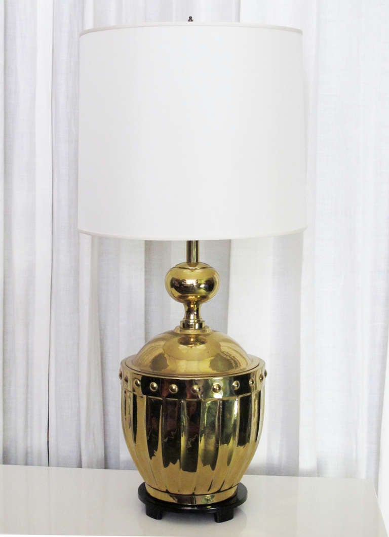Dramatic Parzinger Style Brass Mid-Century Lamp 3
