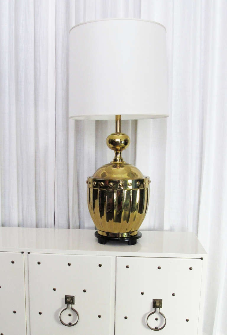 Dramatic Parzinger Style Brass Mid-Century Lamp 4