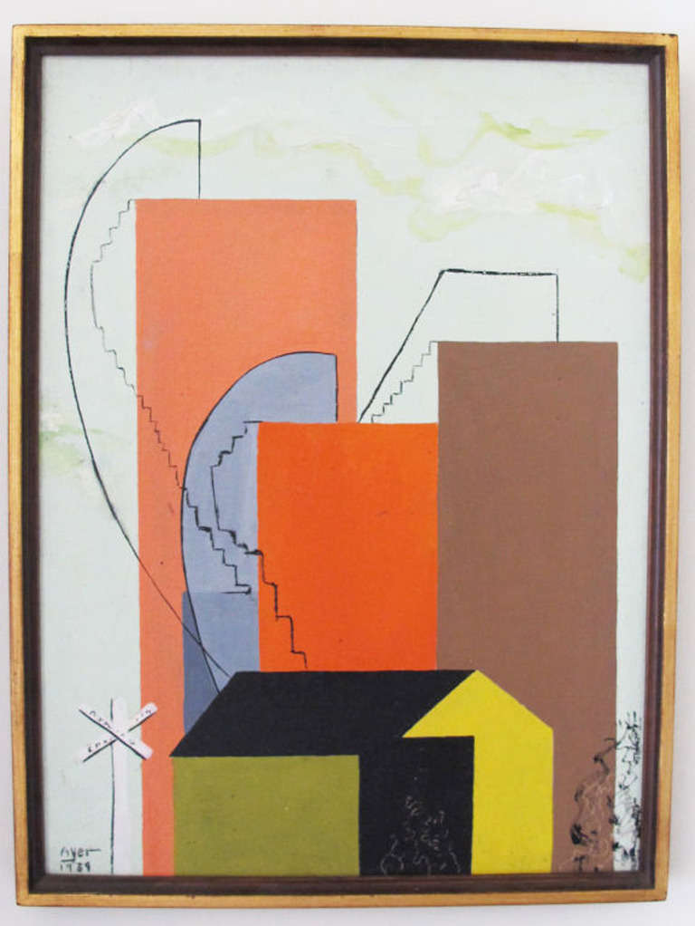 A 1939 Modernist Oil on Board by Richard Ayer 2