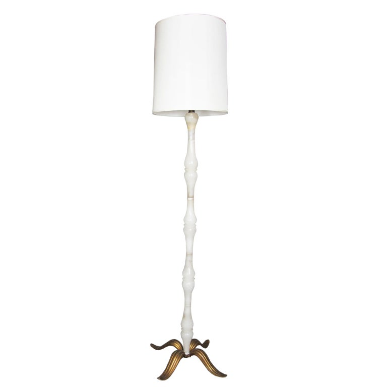 An Italian Alabaster Floor Lamp At 1stdibs