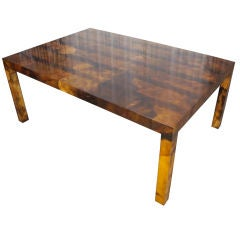 Parchment Parsons Style Dining Table