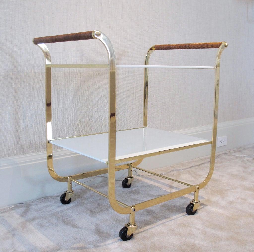 an elegant brass bar cart at 1stdibs. Black Bedroom Furniture Sets. Home Design Ideas