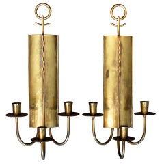 A Pair of Brass Wall Sconces by Hans Grag