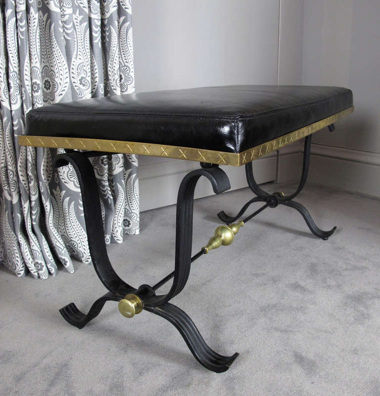 Pair of Iron and Brass Benches 7