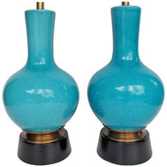 Pair of Pottery Lamps by Paul Laszlo for Wilshire House