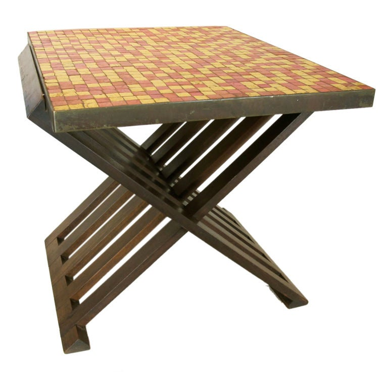 Rare Edward Wormley for Dunbar Table with Murano Tiles 1