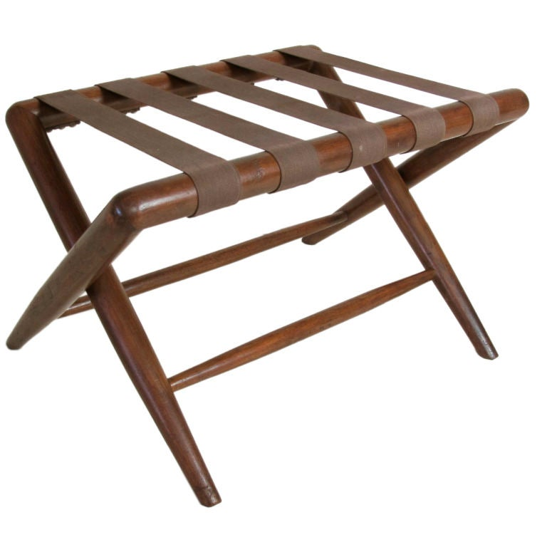 T.H. Robsjohn-Gibbings for Widdicomb Folding Luggage Stand at 1stdibs