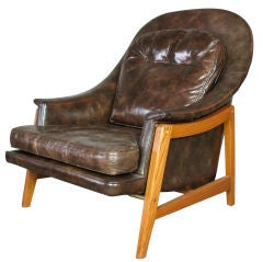 Edward Wormley for Dunbar Leather Janus Chair