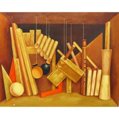 Woodwork - Trompe l'oeil Painting by Kennard M. Harris