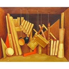 Woodwork - Trompe l'oeil Painting by Kennard M. Harris