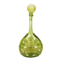 Tall French Glass Decanter by Biot