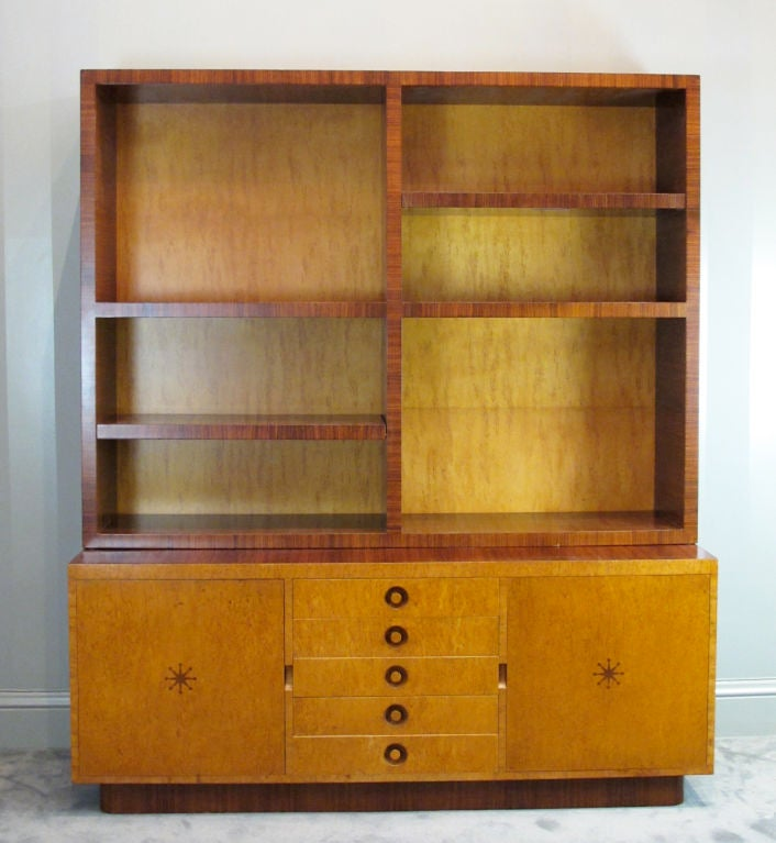 Mid-Century Modern Rare Bookcase Designed by Andrew Szoeke No. 2 For Sale