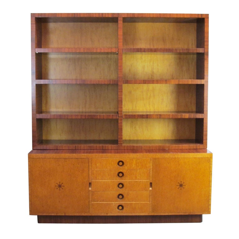 Rare Bookcase Designed by Andrew Szoeke No. 2 For Sale
