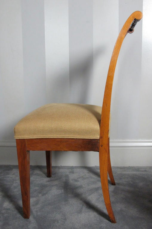 Austrian Pair Biedermeier Side or Dining Chairs For Sale