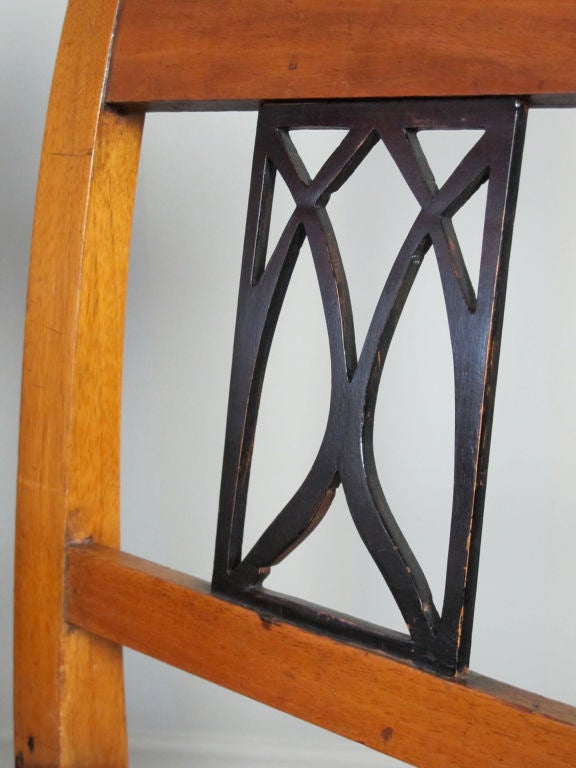 Fruitwood Pair Biedermeier Side or Dining Chairs For Sale