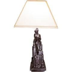 1928 Rare Spirit of Modernism Frankart Table Lamp