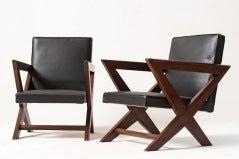 Set of rarissim armchair by pierre jeanneret