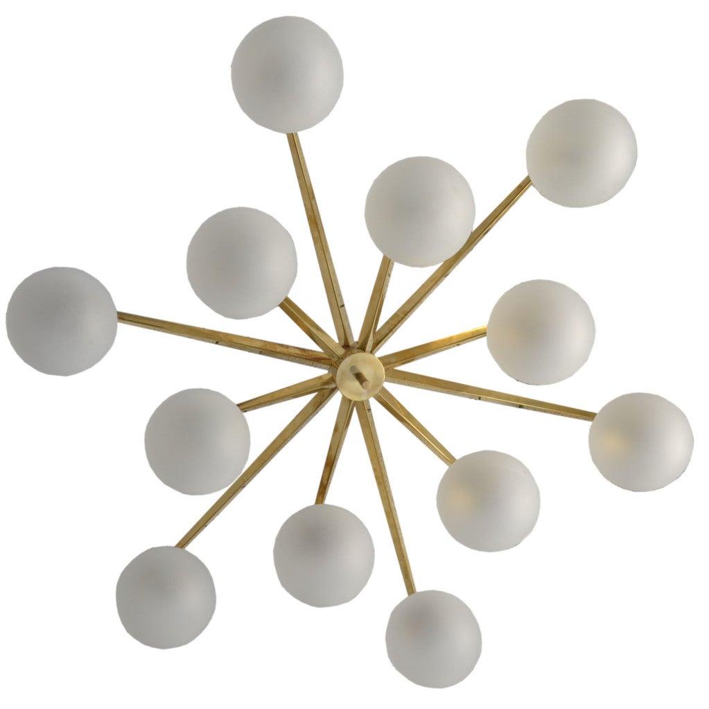 Angelo lelli 39 s italian chandelier by arredoluce at 1stdibs for Arredo luce