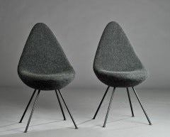 DROP CHAIRS BY ARNE JACOBSEN