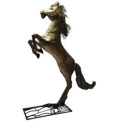 Huge Horse Sculpture By Henri Fernandez