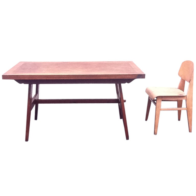 Jean prouv and ren gabriel table at 1stdibs - Table basse jean prouve ...