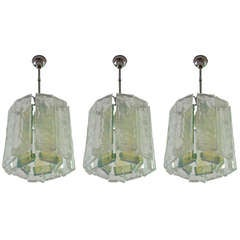 Set of tree chandeliers by Toso Murano