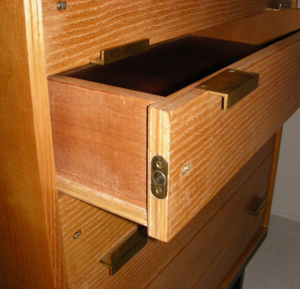 Oak Wood Dressers ~ Drawer dresser in oak wood at stdibs
