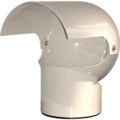 Gae Aulenti  Plastic Helmet shaped Table Lamp