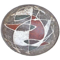 """A French 1950 Ceramic Bowl in the style of """"les Argonautes"""""""