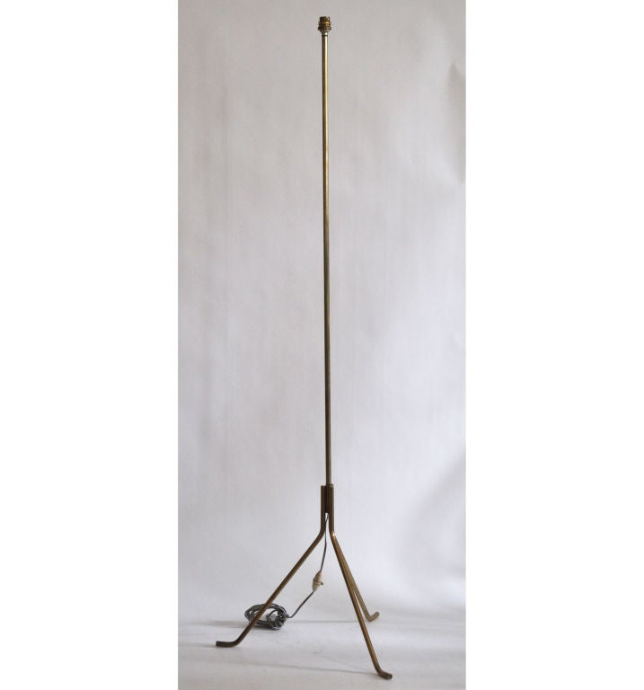 French Floor lamp in Bronze For Sale