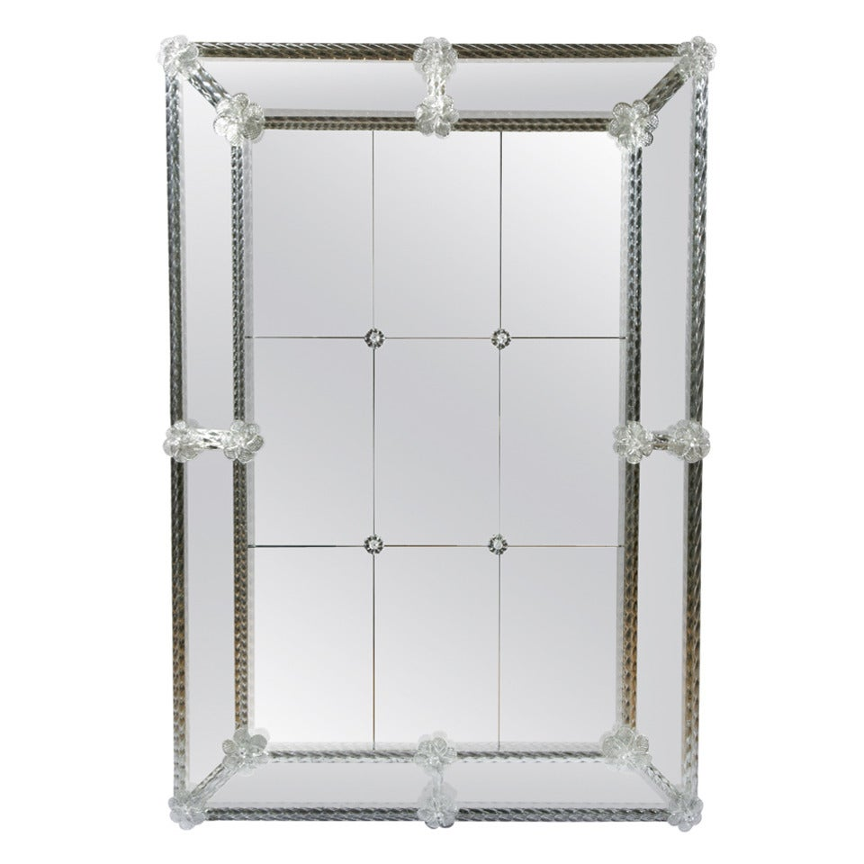 Mirror In Murano Glass At 1stdibs