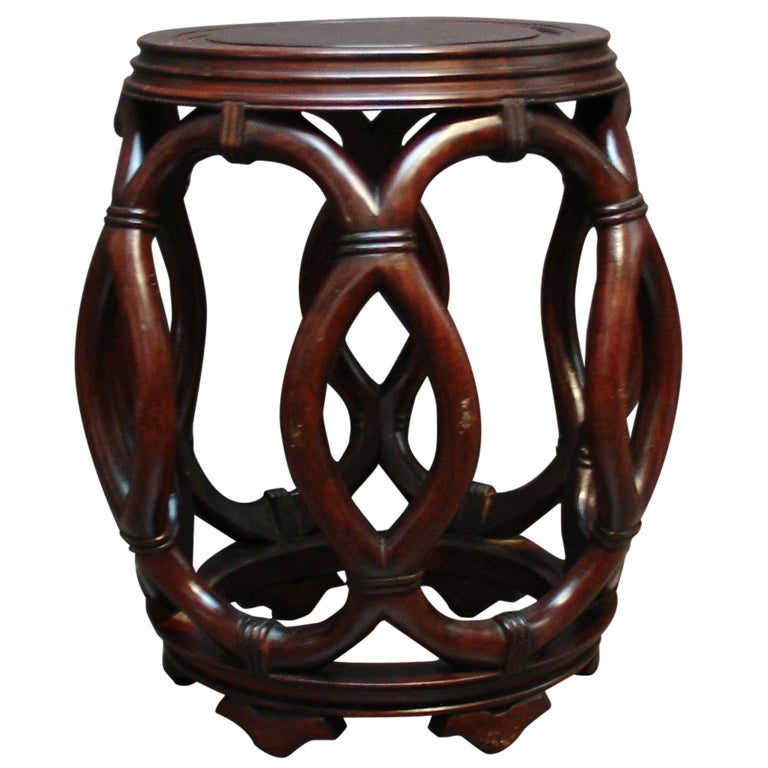 A Chinese Carved Hardwood Drum Stool 1  sc 1 st  1stDibs : chinese stools wood - islam-shia.org