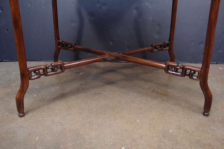 19th Century Chinese Export Hardwood Folding Tray Table For Sale 1