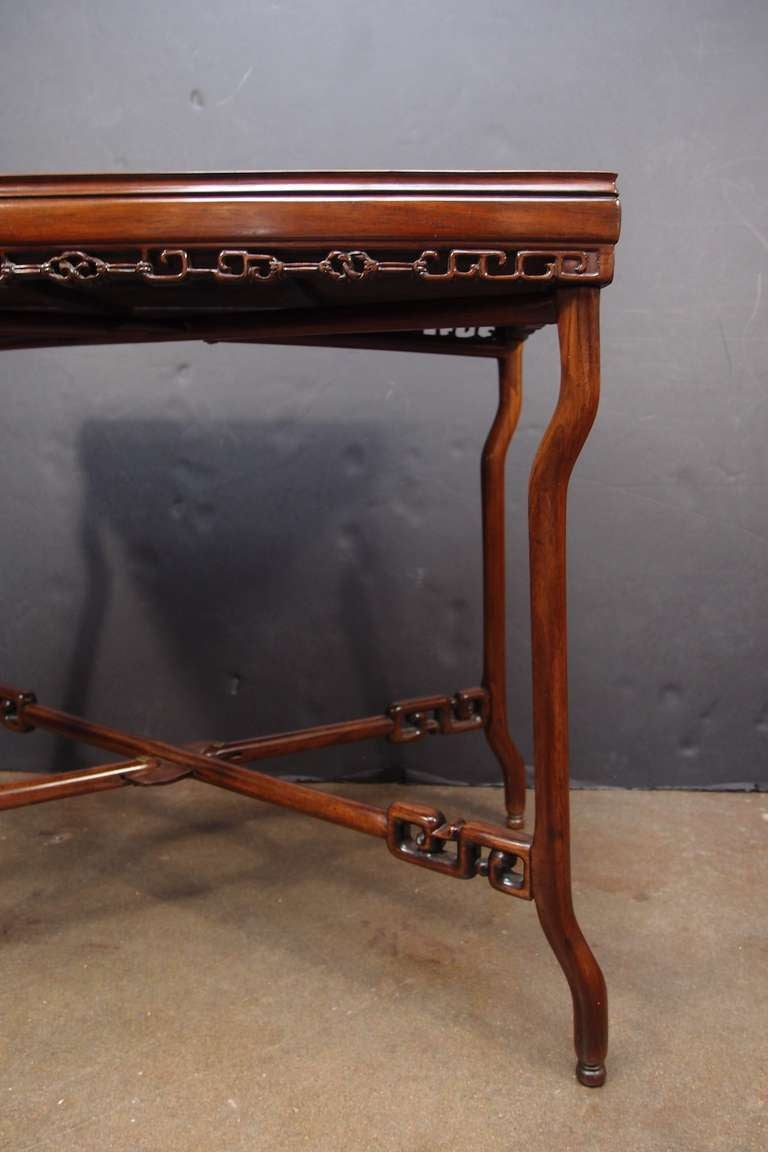 19th Century Chinese Export Hardwood Folding Tray Table For Sale 2